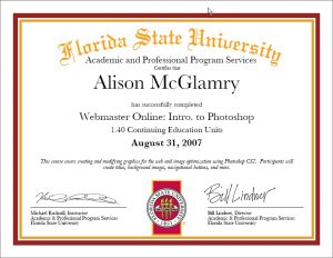 FSU Photoshop Certification