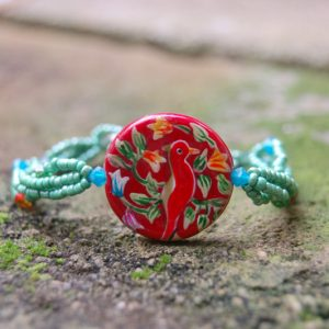 Red Bird Beauty Bracelet