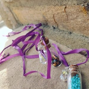 Fairy Dust Bead Bottle Necklace