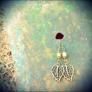 Yellow Leaf Earrings